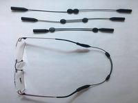 CABLZ Ultra Thin Light Peso Luz Cadenas de anteojos Cable de metal Retenedor Sunglass Ajustable Cuerda Cuerda Cuerda de cuerda con Silicona Redondo Slip-In Tip Pips