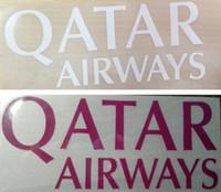 Estampado en caliente QATAR AIRWAYS logotipo del patrocinador frontal pegatinas de color rosa que imprimen brazaletes insignias de fútbol brazalete impreso parches de fútbol impresionados