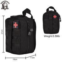 Sinersoft Tactical Medical First Aid Ifak EMT Utility Studium Leczenie Pakiet Talii Wielofunkcyjny Molle Awaryjne Worek UpdA do pasa kamizelkowego