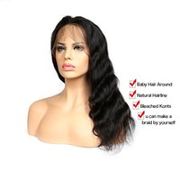 360 Lace Front Wig Human Hair Body Wave 150% Density Natural...