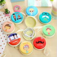 Koreanische Version des kreativen Weißblech-Headset Aufbewahrungstasche Cute Münze Geldbeutel Element Mädchen lose Brieftasche Großhandel