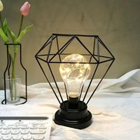 Ins Minimalist wrought iron candlestick night light pendulum...