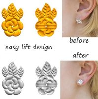 New Fashion Rose Flower Magic Bax Earring Backs Support Earr...