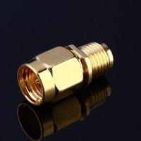 ل RF محوري الكابل مطلية بالذهب اللون RP SMA أنثى جاك إلى SMA ذكر التوصيل مستقيم البسيطة جاك التوصيل سلك موصل محول