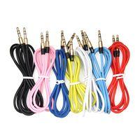 5m cable de 3,5 mm conector de audio de 3,5 mm chapado en oro de 3,5 mm macho a macho Cable Aux 3 m de cable de teléfono móvil del coche de auriculares Altavoz Auxiliar