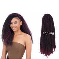 Afro Kinky Twist Braid African Ombre Synthetic Hair Extensio...