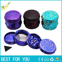 2018 New Type Dazzle Color Metal Herb Grinder 4 Layers Dia. 6...
