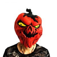 Latex Pumpkin Mask Halloween Adult Full Face Scary Masks Cos...