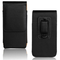 Custodia a conchiglia universale in pelle PU con clip in pelle per Sony Xperia Z3 / M5 / Z5
