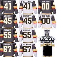 2018 Stanley Cup Final Patch Hombres Vegas Golden Knights Pierre-Edouard Bellemare Jake Bischoff Keegan Kolesar Pulkkinen Custom Hockey Jerseys