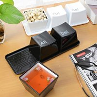 Varm försäljning 1 uppsättning 3pcs ctrl Alt del Keyboard Key Design Kaffe te kopp behållare