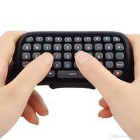 Noir mini bluetooth sans fil meilleur adaptateur clavier clavier text pad pour xbox 360 contrôleur messager temps de chatpadhappy