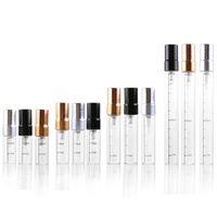 2 ML 3 ML 5 ML 10 ML Frasco de Spray de Vidro Transparente Atomizador De Perfume Portátil Mini Tubo de Ensaio Da Amostra Garrafa de Frascos De Vidro Fino F568