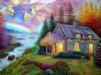 18A732I Rainbow Cottage Diamond Painting Home Decor Diamond ...