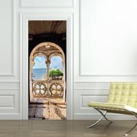 Startseite Kreative DIY 3D Tür Aufkleber Portugiesisch Sea View Muster Für  Kinderzimmer Tür Dekoration Zubehör Wandaufkleber