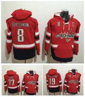2017 New Washington Capitals Pullood 8 Alex Ovechkin 19 Nicklas Backstrom 77 TJ Oshie Red Stitched Hockey Jerseys Sport Hoodies Maat M-XXXL