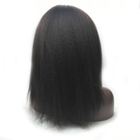 Dentelle frontale perruques humains cheveux naturels Remy Perruque Vrigin Kinky Staight Wig Human Hair Silk tressé Perruques sans gloie