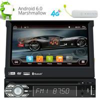 단일 DIN 안 드 로이드 6.0 쿼드 코어 7 '대시 자동차 DVD 플레이어 GPS 라디오 WIFI 블루투스 + 4 G Dongle에서 동력 분리형 터치 스크린