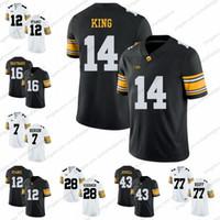 7e67322d4 Magliette da calcio Iowa Hawkeyes College   14 Desmond King 16 C. J.  Beathard 12 Ricky Stanzi