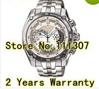 Hurtownia-EF-550D-7AV Nowe męskie White Dial Watch Sport EF-550D EF 550D White Dial Wristwatch z 1/20 Stopwatch Pendulum Funkcja