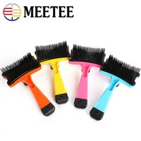 Meetee 4 Colors Pet Grooming Tool Massaggio Spazzola per cani Cani Piccoli animali Animali domestici DC-397