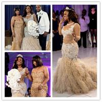 Langer Zug Pelz Meerjungfrau Prom Kleider Appliziert Lace Arabisch Elegant Abend Formale Kleider 2019 Formale Abendkleider Roben de Soirée