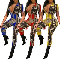 african clothing women v neck jumpsuit short sleeves ankle- l...