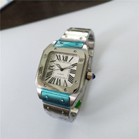 남자 시계 스테인레스 시계 망 자동 시계 강철 손목 시계 흰색 얼굴 02