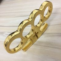 2pcs lot Silver and Black Thin Steel Brass knuckle dusters S...