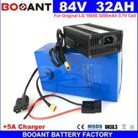 BOOANT 84V 32AH 1500 Watt 2000 Watt 3500 Watt E-Bike Lithium-Batterie 23 S 10 P Elektrische E-Roller Batterie 84 V EU US Kostenlose Zoll + 5A Ladegerät