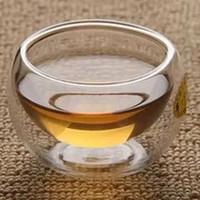 المفضل أفضل الحرارة 6 أجزاء / وحدة مزدوجة الجدار الزجاج كوب الشاي مزدوج إبريق الشاي القهوة مجموعة بوير غلاية مع مرشح مجموعة الشاي دائم