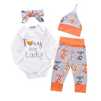 2018 New Baby Girls Sets Infant Baby Cartton Fox Letters Pri...