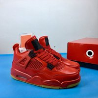 Wholesale 4 IV Singles Day red Men Basketball designer Shoes...