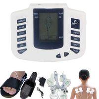 شبشب + 4 قطع منصات الكهربائي مشجعا العضلات الجسم الاسترخاء مدلك نبض عشرات الوخز بالإبر العلاج عشرات الرقمية آلة