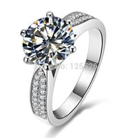 choucong Engagement 9mm Diamond 14KT White Gold Filled women Wedding Band Ring Gift Free shipping