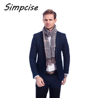 TARTAN SCARF Mens Warm Soft Cashmere wool plaid Checked Scar...