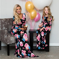 Mother Daughter Bohemian Maxi Dress Family Matching Outfits ...