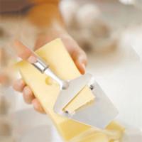 Queso avión máquina de cortar acero inoxidable plano máquina de cortar mantequilla queso rallador de queso Torta de cuchillo para cocinar herramientas de la cocina del color de plata