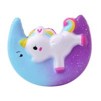 Unicorn Squishy Galaxy Moon Pegasus Slow Rising Squishies Ju...