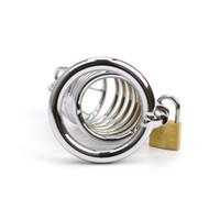 Masculino Gaiola De Castidade De Metal Pênis Trancado Em Dispositivo de Cinto de Castidade Homens Gaiola Gaiola Cateter Uretra Maca M200