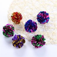 Wholesale crinkle paper buy cheap crinkle paper 2018 on sale in 8 photos wholesale crinkle paper kitty toy ringing paper flower ball mylar crinkle cat toys interactive portable mightylinksfo