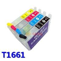 T166 Перезаправляемые картриджи для Epson Expression ME-101 ME-10 Чернила для принтера со сбросом и постоянным чипом