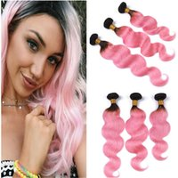 Brazilian Pink Ombre Virgin Human Hair Weaves Extensions 3Pc...