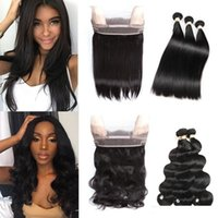 360 Full Lace Frontal Closure With 3 Bundles Brazilian Virgi...