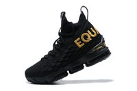 Men' s XV 15 Black Gold Basketball Shoes 15 Rose Equal E...