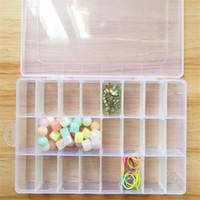 Caja de almacenamiento de plástico transparente desmontable 24 rejillas Caja de almacenamiento de maquillaje de joyería al aire libre antipolvo sellado
