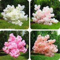 Falso ciliegio fiore ramo Fiore Begonia Sakura Albero Stelo, con foglie verde 108 centimetri per fiori artificiali decorativi