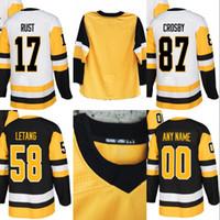 # 58 Kris Letang Jersey Pittsburgh 30 Matt Murray 43 Conor Sheary 59 Jake Guentzel 72 Patric Hornqvist Benutzerdefinierte Hockey Trikots