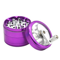 4 Part 63mm Aluminium Alloy Hand Grinders Herb Spice Tobacco...