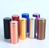 علب ألمنيوم XXL الألومنيوم التبغ صندوق التخزين حالة الشاي مجوهرات معدنية خبأ أدوات التدخين حبوب منع الحمل حالة 5 اللون اختيار 12CM الطول 4.5cm قطر